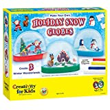 Creativity for Kids Holiday Snow Globes - Makes 3 Snow Globes
