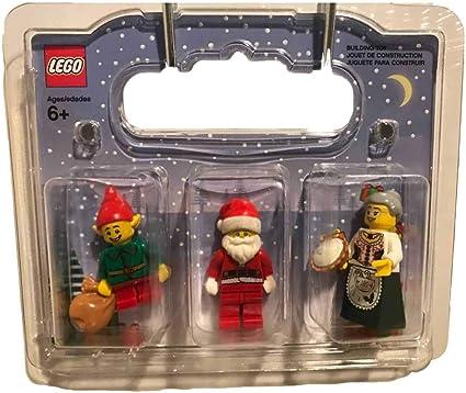 New! Lego 853606 Christmas Holiday Santa Elf /& Mrs Claus w// Gray Hair