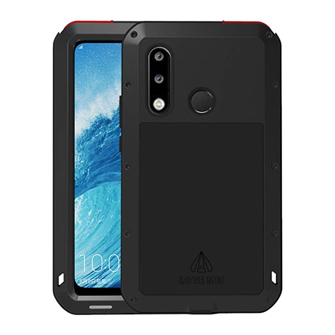finest selection 931a6 f370a Simicoo Huawei P20 Pro Aluminum Alloy Metal Bumper Silicone Full body  Hybrid Case Built-in Gorilla glass Military Shockproof Heavy Duty Armor  Defender ...
