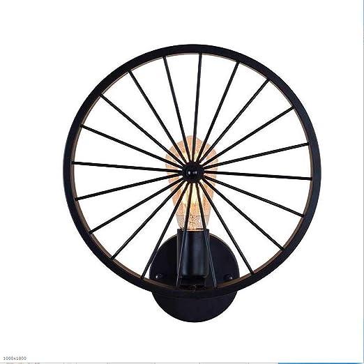 HJQ Lámpara de Pared de Rueda de Bicicleta Vintage Lámpara de ...