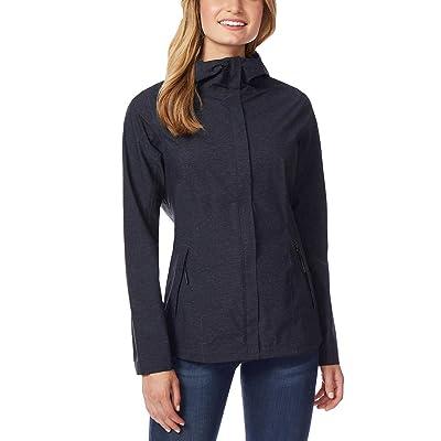 32 Degrees Cool Womens Performance Rain Jacket Black Melange Small: Clothing