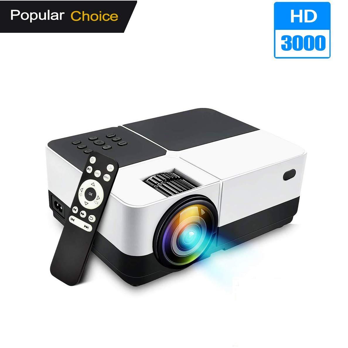 Proyector de Video, BEYI H2 Mejorado 3000 lúmenes HD LED Proyector ...