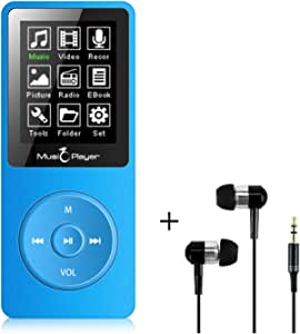 MP3 Player, BTSMONE 8GB mp3 Music Player, Portable Walkman Build-in Speaker with FM Radio and Voice Recorder/Ebook Reader,HI-FI Lossless Sound 30 Hours Playback,Support Expandable Up to 128GB