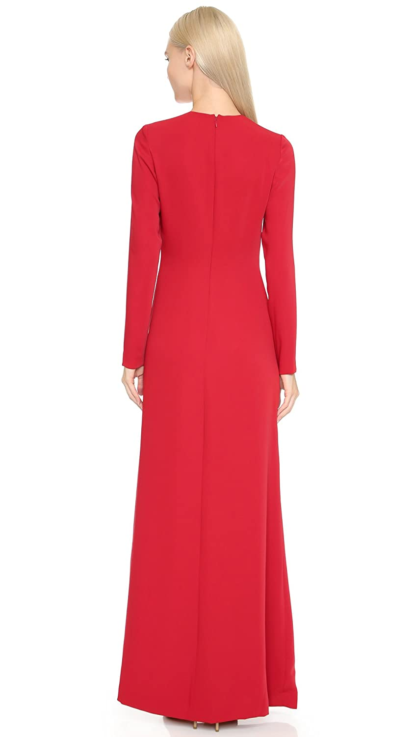 377c7656d0a Amazon.com  Jill Jill Stuart Women s Long Sleeve High Side Slit Gown   Clothing