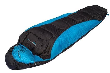 MountainShack Saco de dormir cálido y ligero para camping o senderismo con bolsa para