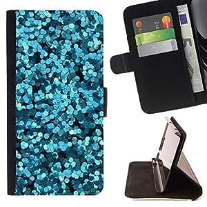 For Samsung Galaxy S4 Mini i9190 (NOT S4) Case , Flores abstractas Mar Surf Buceo- la tarjeta de Crédito Slots PU Funda de cuero Monedero caso cubierta de piel