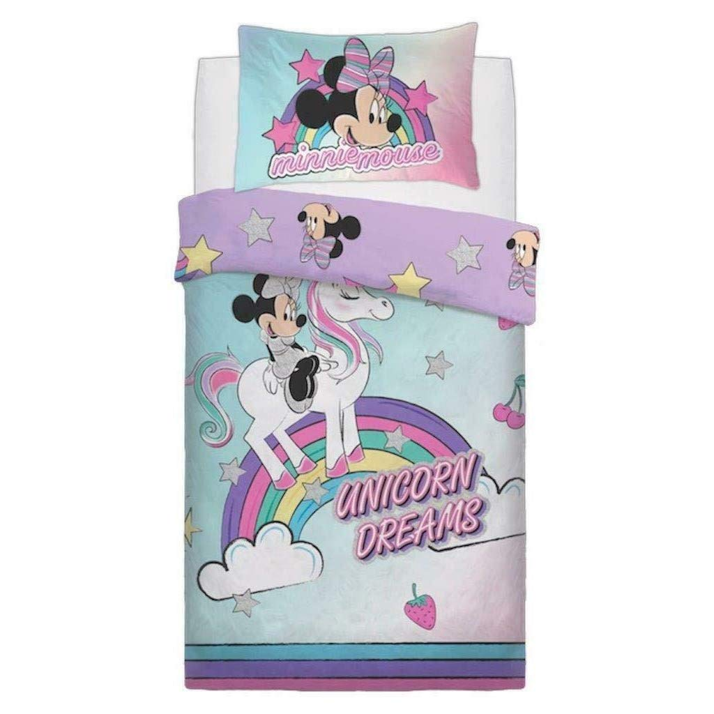 Minnie Mouse Unicorn Dreams Duvet Set (Twin, Multicolored)