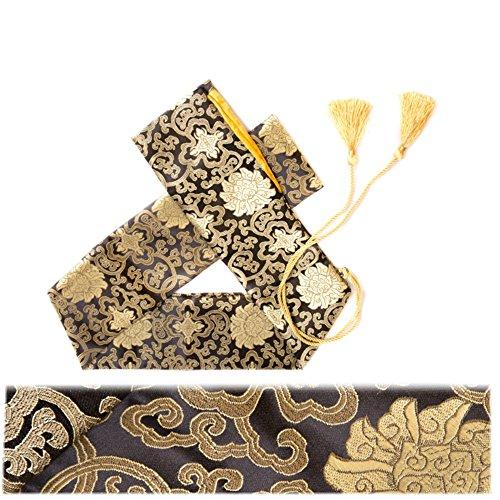 Eforlife Silk Sword Bag Samurai Katana Wakizashi Tanto Sword Cover Carry Bag with Golden Tassel (Lucky Clouds) (Bag Sword Carrying Katana)