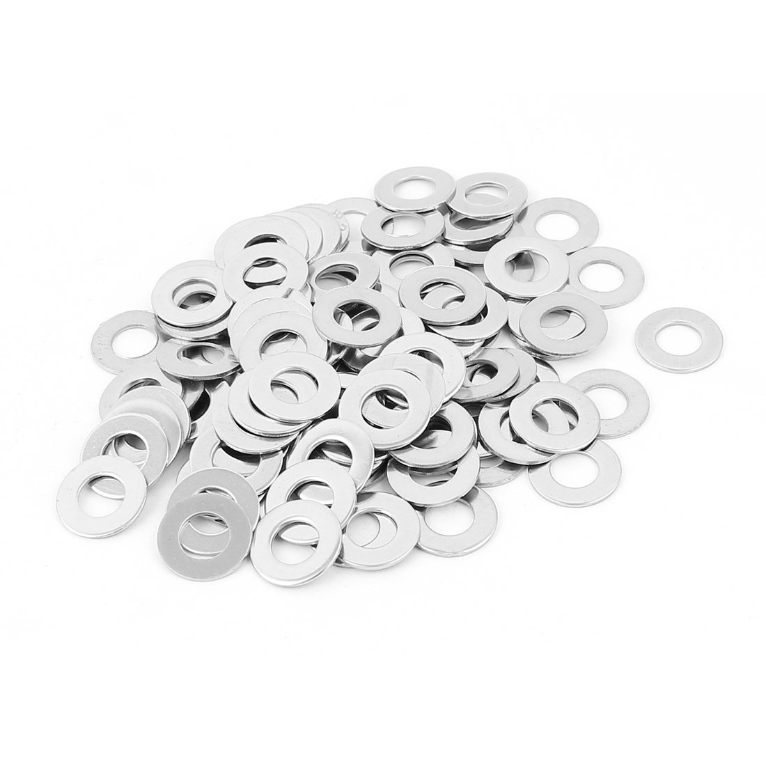 uxcell 100pcs M8 304 Stainless Steel Plain Flat Washers for Bolt Screws
