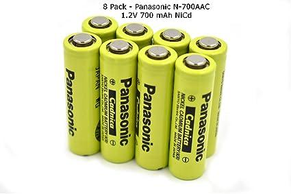 Amazon.com: Paquete de 8 pilas recargables Panasonic/Sanyo ...