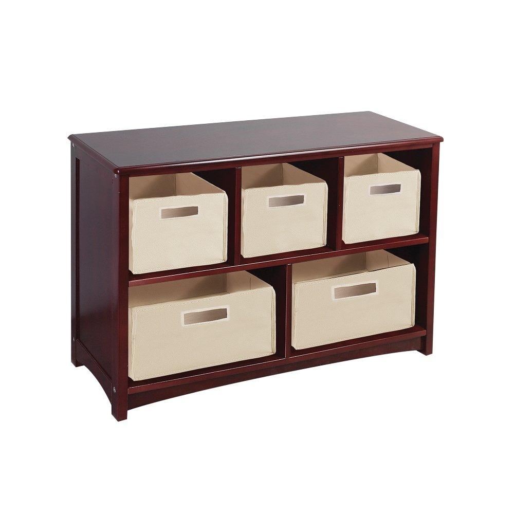 Guidecraft G86207 Classic Bookshelf Kids Bookcase, Espresso 23216E