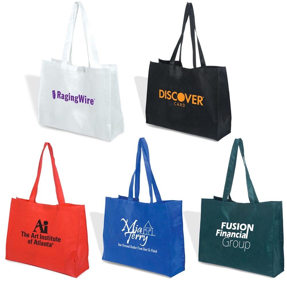 Mega Show Tote - 100 Quantity - $1.85 Each - PROMOTIONAL PRODUCT / BULK / Branded with YOUR LOGO / CUSTOMIZED by Sunrise Identity (Image #4)