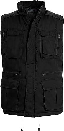 Details about  /Men/'s Gilet Safari Jacket Multi Pockets Vest Waistcoat Camping Hiking Outdoor