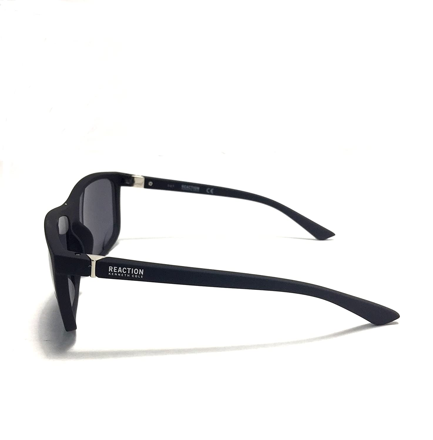 ba5038c6ac Amazon.com  Kenneth Cole Reaction Mens Square Matt Black Plastic Sunglass  KC1317 2A  Clothing