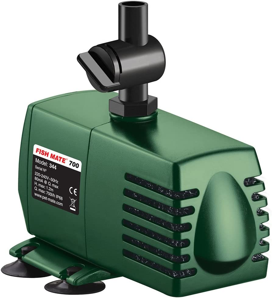 Fish Mate 700 Pond Fountain Pump with Fountain Set 4 Options Anti Clog Filter