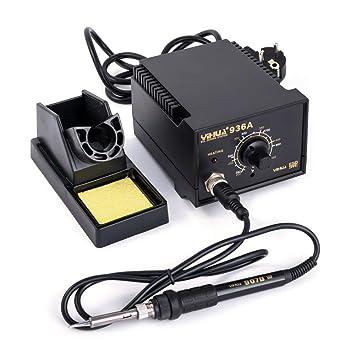 YIHUA 936 a regulable Soldadura SMD Soldador 60 W 200. 480 ° с antiestático: Amazon.es: Bricolaje y herramientas