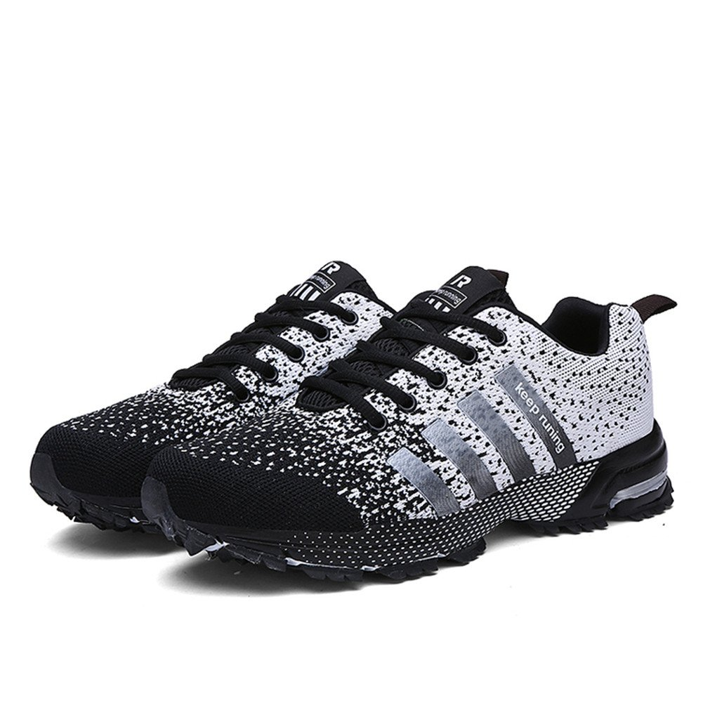 KUBUA Womens Running Shoes Trail Fashion Sneakers Tennis Sports Casual Walking Athletic Fitness Indoor and Outdoor Shoes for Women 5.5 B / 4.5 D F Black by KUBUA (Image #2)