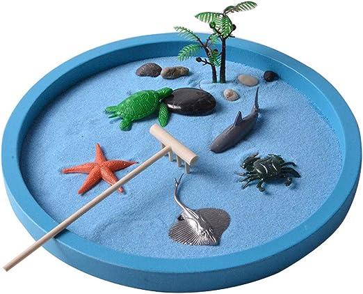 FCZH Mini Caja de Arena para Escritorio, Playa y jardín Zen, Juego ...