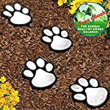 Garden LED Solar Powered Lights Dog Animal Paw Print – 4 Pack – Great Lantern Outdoor Decor for Patio, Yard, Walkway, Pathway, Lantern, Path and Landscape – Plus Exclusive eBook For Sale