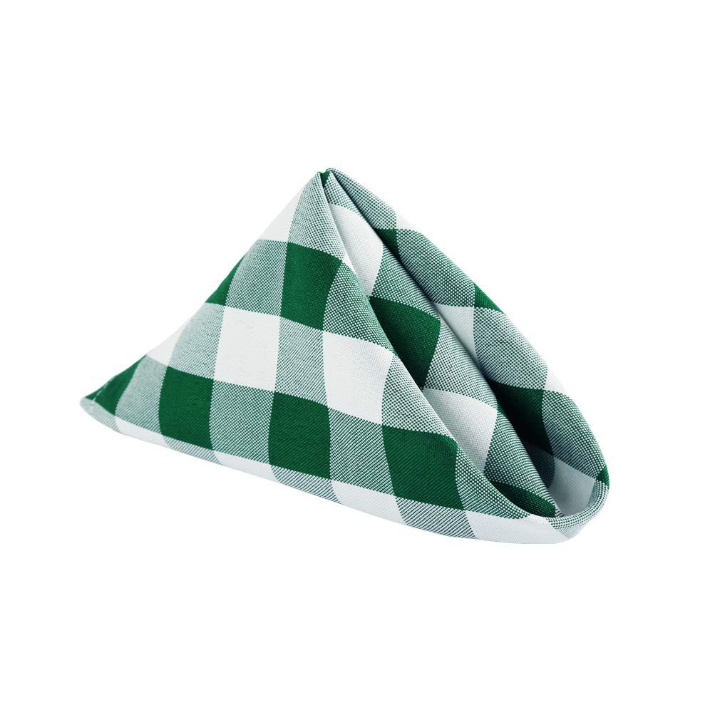 E-TEX 17 x 17-Inch Napkins Beige 100/% Polyester Washable Cloth Napkins,Set of 12