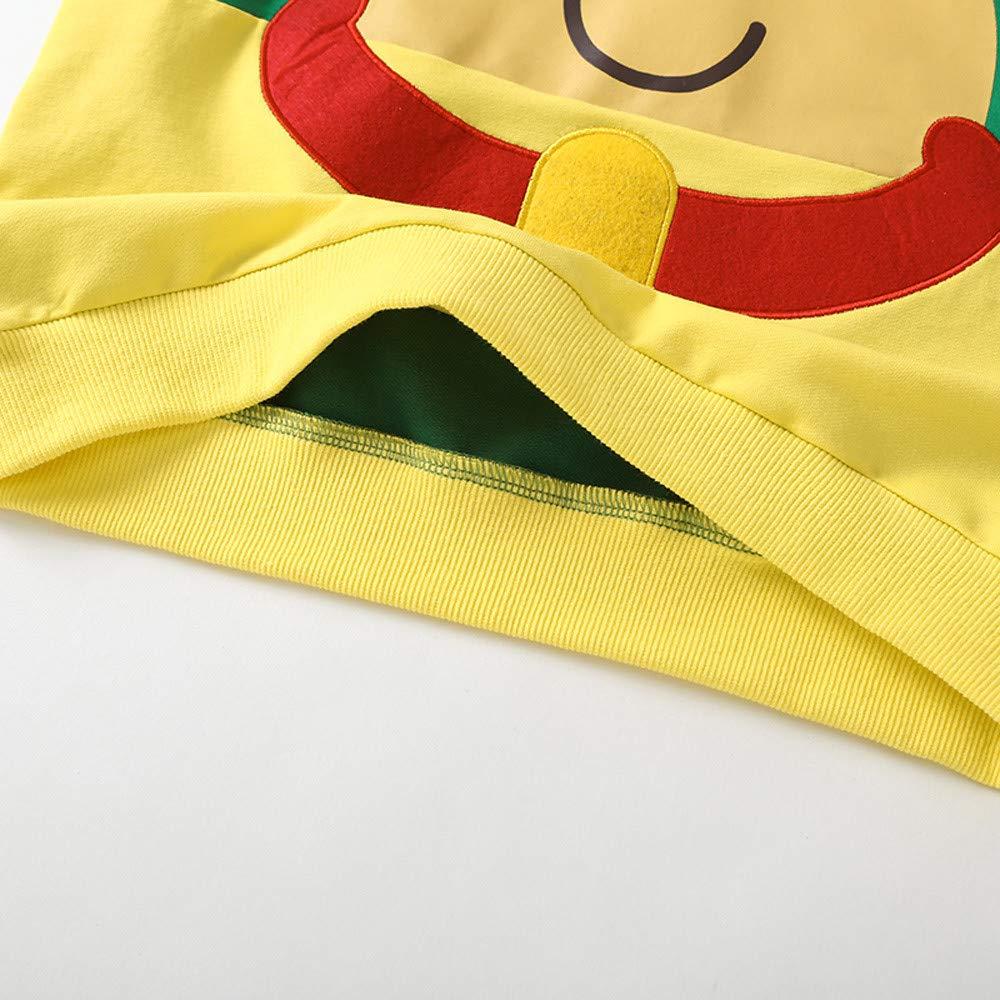 KONFA Teen Toddler Kids Baby Girls Xmas Cartoon Deer T-Shirt Pullover Long Sleeve Blouse Christmas Tops 2-9 Years