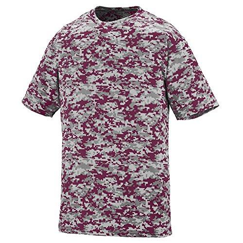 Augusta Sportswear Digi Camo Wicking T-Shirt, Large, Maroon Digi Augusta Baseball T-shirt