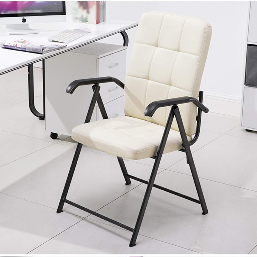 LJHA Lounge Chair Recliners Folding Chair with Armrest Folding Chair Home Office Computer Meeting Training Chair Portable Chair 55x55x90cm Color : A, Size : 55x55x90cm
