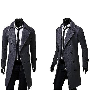 nouveaux styles haut de gamme authentique joli design Homme Cache-Poussière Gabardine Vent Mince Long Double ...