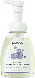 product image for Puracy Natural Foaming Hand Soap, Lavender & Vanilla, Hypoallergenic Hand Wash, 8.5 Ounce