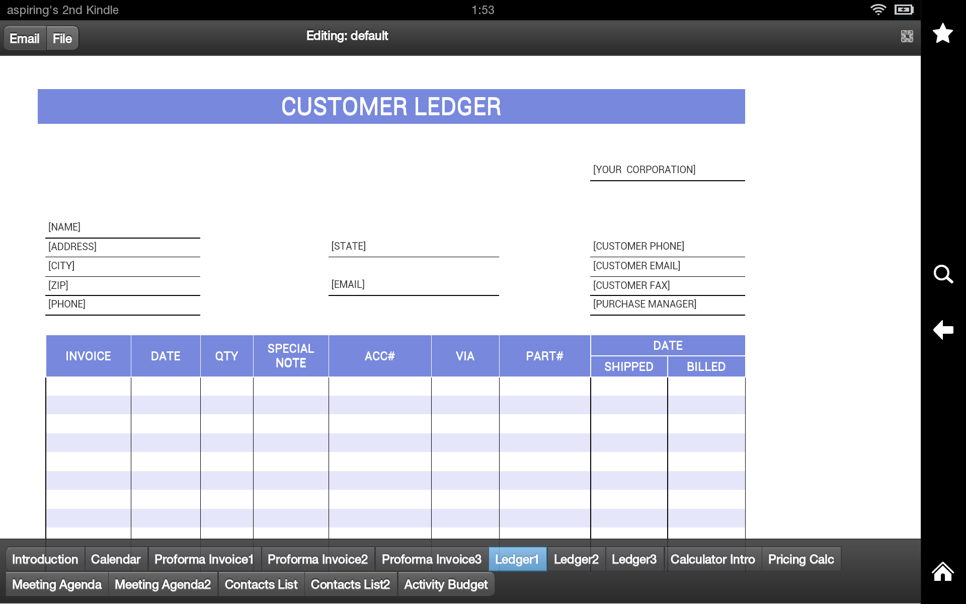 Amazoncom Proforma Invoice Pro Appstore For Android - Free proforma invoice template pay amazon store card online