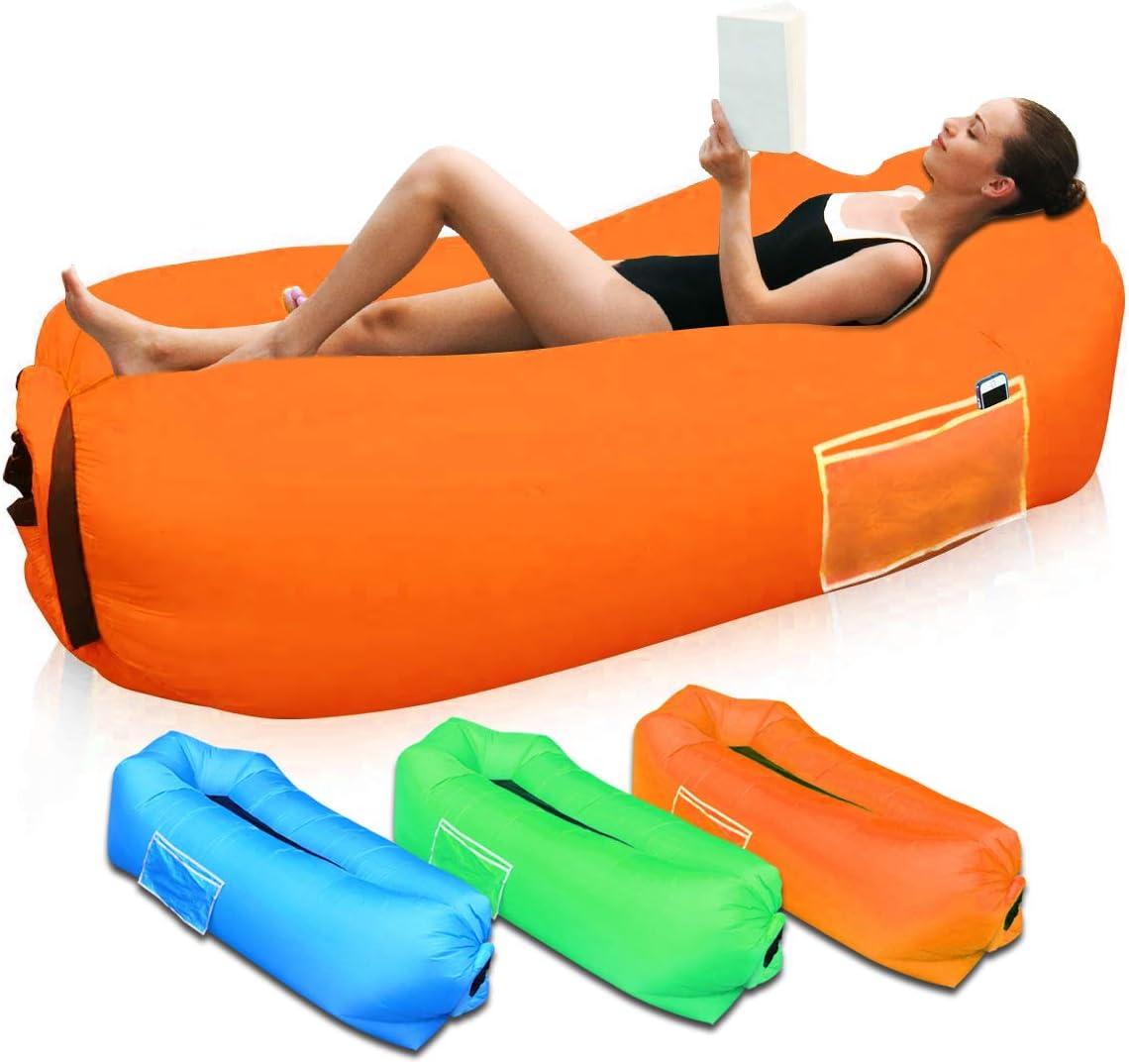 Piscina SUPTEMPO Sof/á Hinchable para Interiores y Exteriores Port/átil Impermeable Sofa Cama Hinchable,Almohada incorporada y Bolsa de Almacenamiento incluida Aire sof/á para Playa,Camping,Viajes