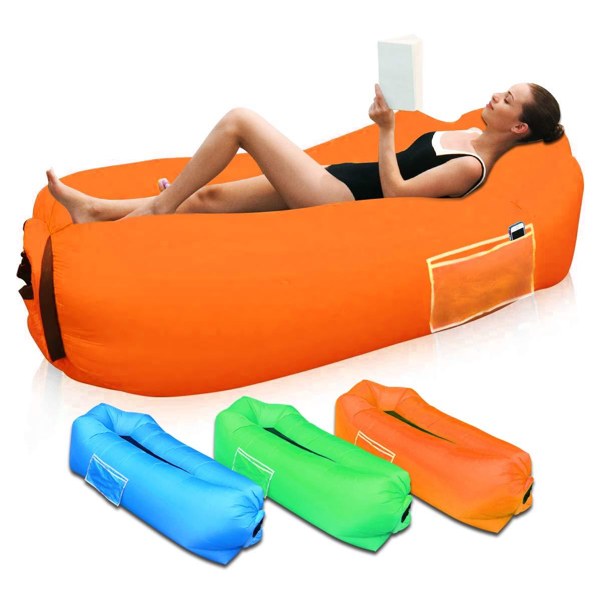 SUPTEMPO Sofá Hinchable para Interiores y Exteriores, Portátil Impermeable Sofa Cama Hinchable,Almohada incorporada y Bolsa de Almacenamiento incluida ...