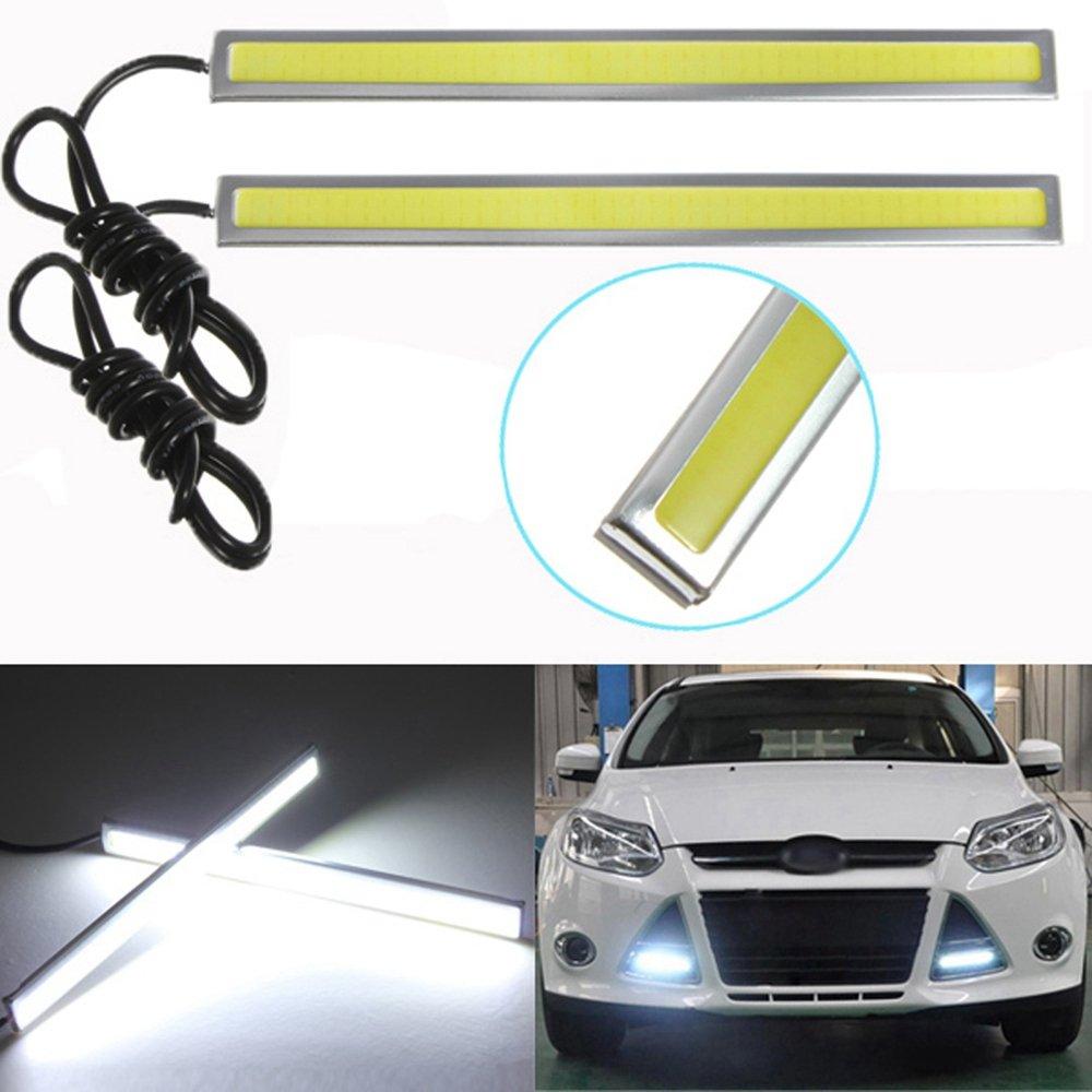 2PCS universale impermeabile auto camion luci di marcia diurna luce super luminoso 12/V strisce LED COB Car LED Fog Light