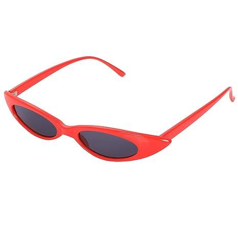 TOOGOO Gafas de sol pequenas de ojo de gato Mujeres Retro ...