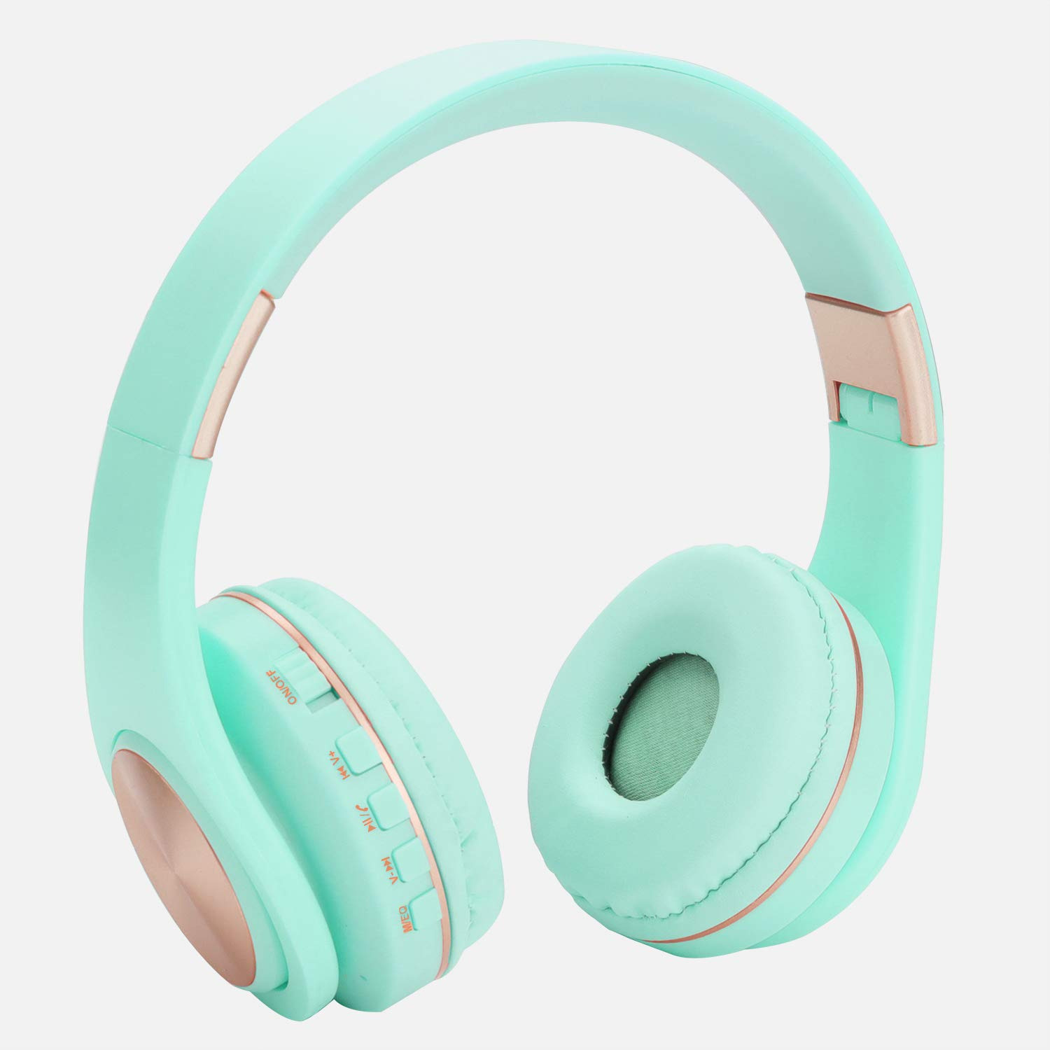 Kids Bluetooth Headphones Wireless Wired On Ear Foldable Headphones for Kids Adults,Built-in Mic,FM,Micro SD TF Card Slot,Stereo Sound for Pc Tablet Cell Phones Ipad Airplane School Use Blue