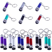 Antner 18pcs Mini Flashlights Keychain 5 Bulbs LED Keychain Toy for Kids Party Favors, Camping, Travel, Home or Office…