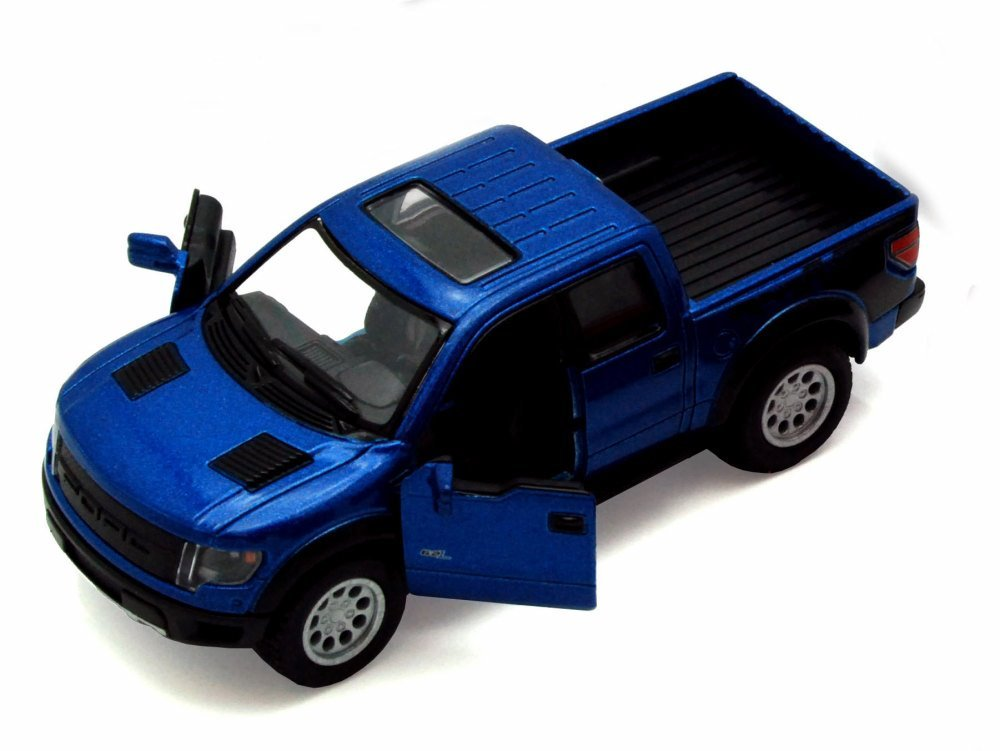 2013 Ford F 150 SVT Raptor SuperCrew Pickup Truck Blue Kinsmart 5365D 1 46 Scale Diecast Model Toy Car but NO Box