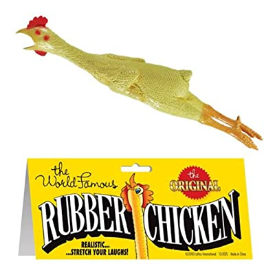 "18"" Rubber Chicken: Toys & Games"