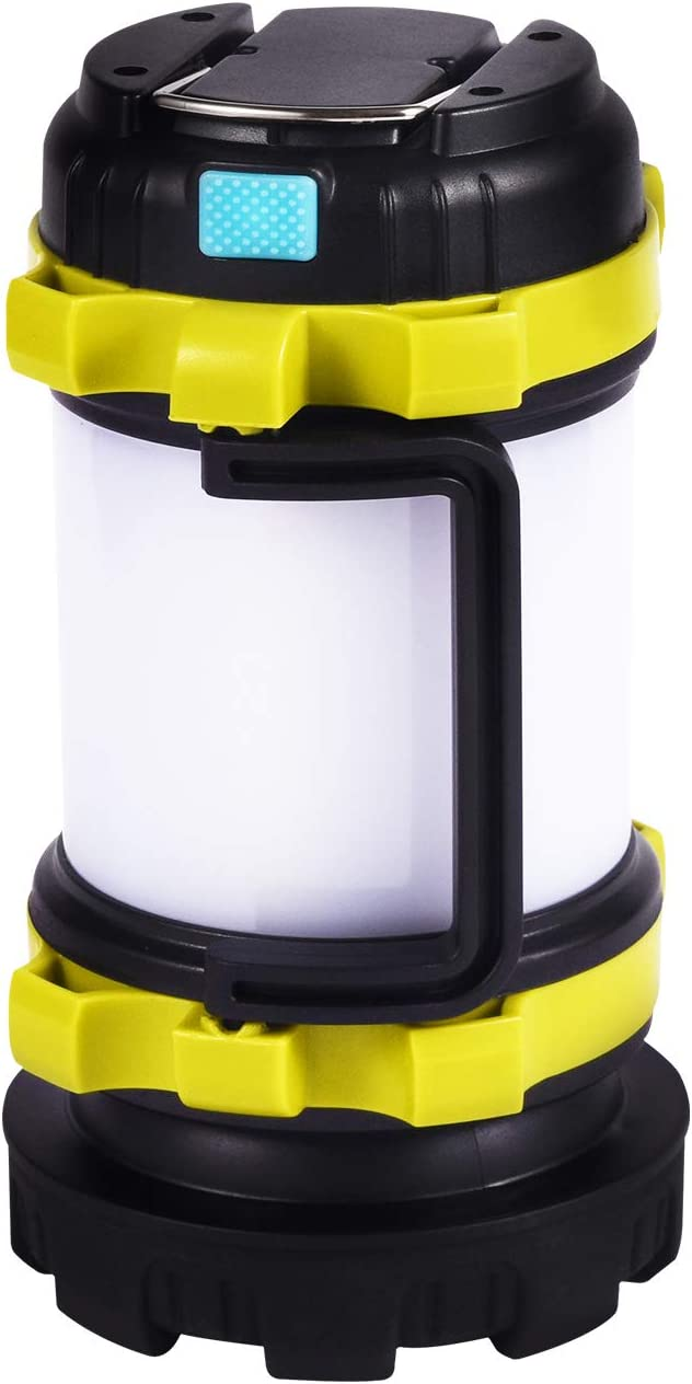 Waterproof Outdoor Flash Light with LED 4000mAh Power Bank Fishing Emergency AUTENPOO Camping Lantern Rechargeable Torch with 6 Light Modes for Hiking Power Cuts Tent