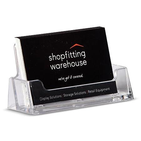 Acrylic business card holder amazon kitchen home acrylic business card holder reheart Images