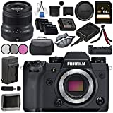 Fujifilm X-H1 Mirrorless Digital Camera (Body Only) 16568731 XF 50mm f/2 R WR Lens (Black) 16536611 VPB-XH1 Vertical Power Booster Grip Bundle