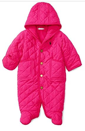 058a61a9c Amazon.com  Ralph Lauren  Barn  Quilted Bunting (Infant) Girl s 6 ...
