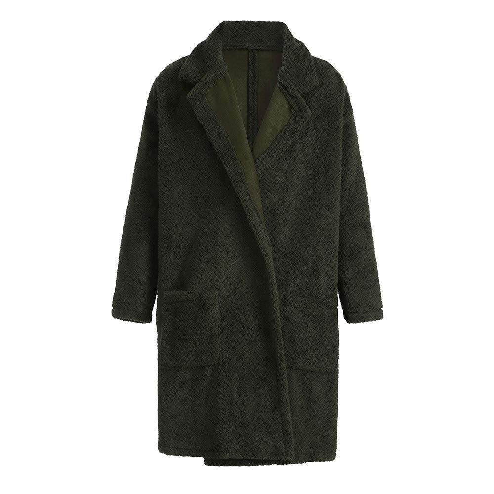 FTXJ Fashion Men Loose Warm Plush Cardigan Long Furry Double-Sided Coat Tops Blouses by FTXJ_mens coats (Image #8)