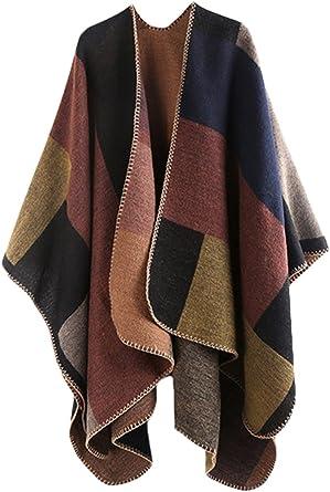 Women/'s Chiffon Long Sleeve  Shrug Cape Blanket Wrap Poncho Shawl Tops