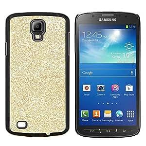 Brillo Bling dinero Rich brillantes- Metal de aluminio y de plástico duro Caja del teléfono - Negro - Samsung i9295 Galaxy S4 Active / i537 (NOT S4)