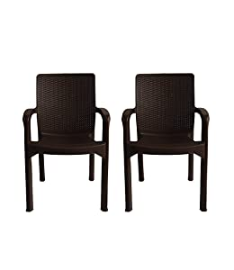 Italica Furniture 9402 Armchairs (Matte Finish, Brown, Set of 2)