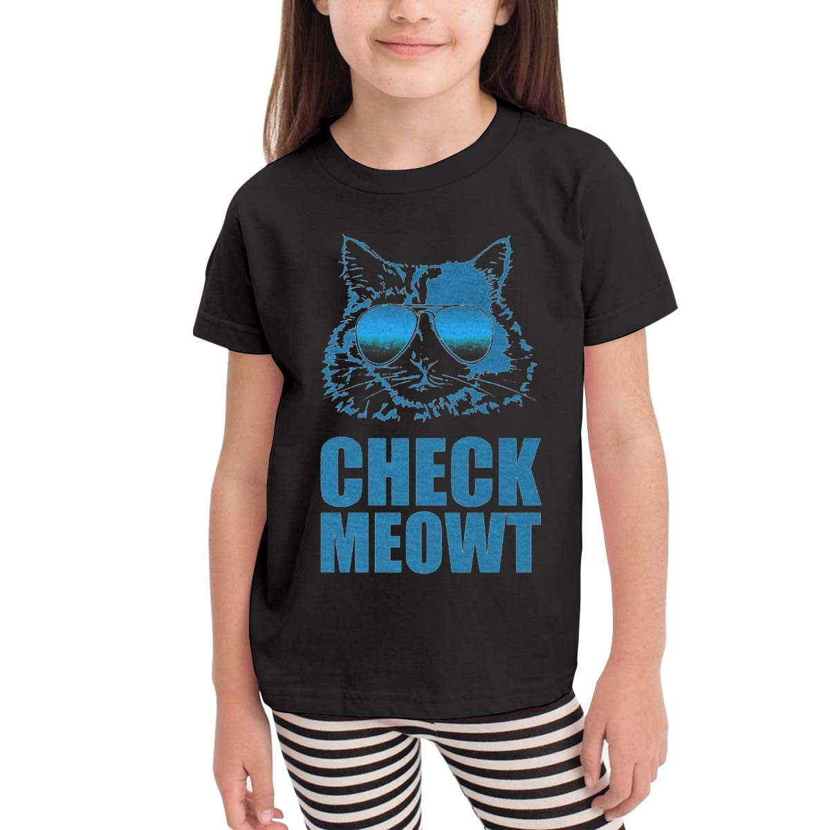 Onlybabycare Check Meowt 100/% Cotton Toddler Baby Boys Girls Kids Short Sleeve T Shirt Top Tee Clothes 2-6 T
