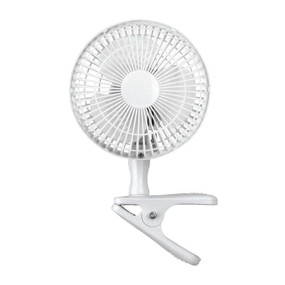 Status Portable 6-Inch Clip On Fan, White S6CLIPFAN1PKB
