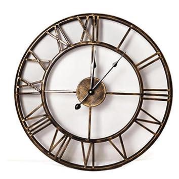 pengweiContinental 3D reloj antiguo LOFT artes creativas viven reloj de pared decorativo de pared de engranaje del reloj , 4: Amazon.es: Hogar