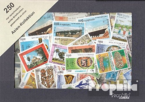- Asia 250 Different Stamps (Stamps for Collectors)